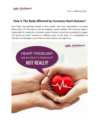 How is The Body Affected by Coronary Heart Disease?