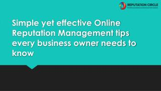 Simple yet effective Online Reputation Management tips every business owner needs to know