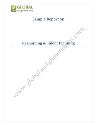 Sample Report on Resourcing & Talent Planning