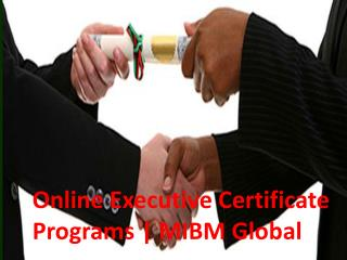 Online Executive Certificate Programs an excellent marketing professional