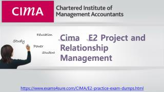 Cima E2 Questions Answers