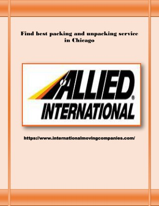 Best Packing Services in Chicago