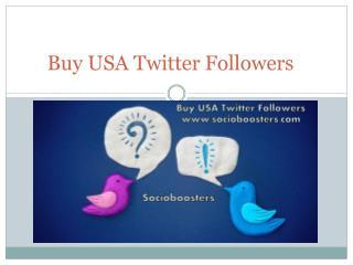 Buy USA Twitter Followers
