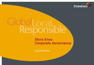 Stora Enso  Corporate Governance