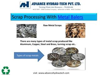 Scrap Processing With Metal Balers