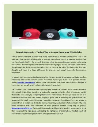 Basics of E-Commerce Product Photography