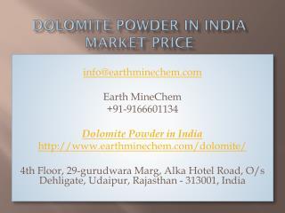 Dolomite Powder in India Market Price