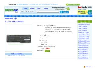 Dell Inspiron 9400 battery