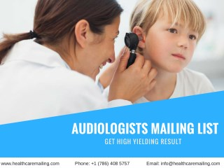Audiologists Mailing List