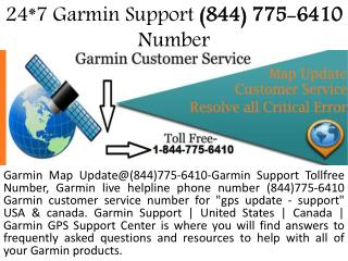 Dail 1-844-775-6410-Garmin Phone Number