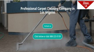 carpet cleaning la