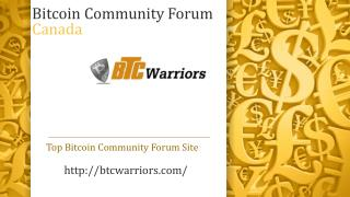 Bitcoin Community Forum Canada
