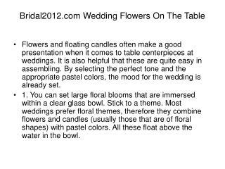 Bridal2012.com Wedding Flowers On The Table