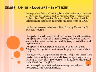 Devops Training in Bangalore by mytectra