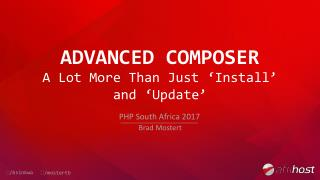 Advanced Composer - A Lot More Than Just 'Install' and 'Update'