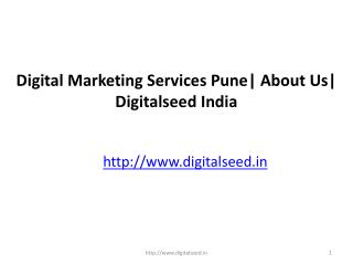 Digital Marketing Services Pune| About Us| Digitalseed
