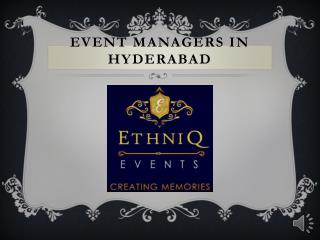 Best Wedding Organisers in Hyderabad