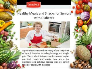 Healthy Meals and Snacks for Seniors with Diabetes