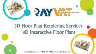 3D Floor Plan Rendering Services | 3D Interactive Floor Plans
