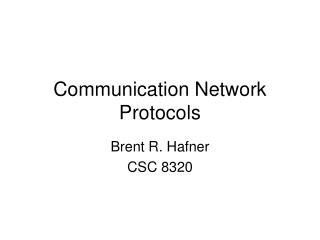 Communication Network Protocols