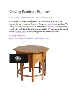 Carving Furniture Exporter
