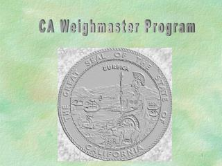 CA Weighmaster Program
