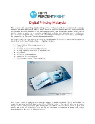 Certificate Printing | Digital Printing Malaysia | Fifty Percent Print
