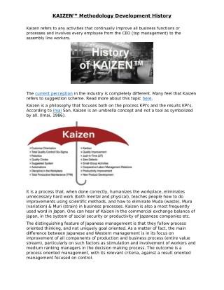 PPT - Team Kaizen PowerPoint Presentation - ID:3915315