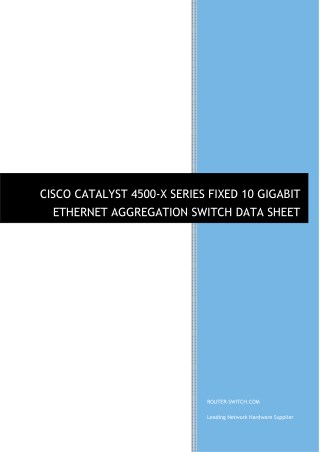Cisco catalyst 4500-x series fixed 10 gigabit ethernet aggregation switch data sheet