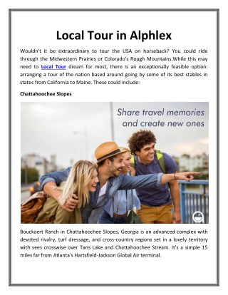 Local Tour in Alphlex