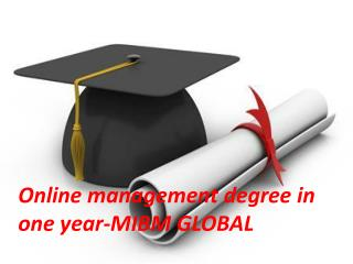 Online management degree in one year