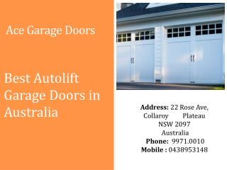 Best Autolift Garage Doors in Australia