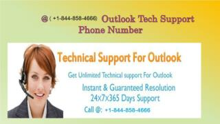 Outlook Not Working, Contact Now   1-844-858-4666