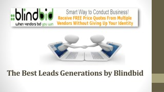 New business technologies offer by Blindbid