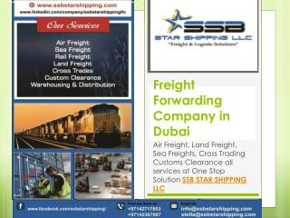 Freight Forwarders Company in Dubai