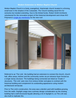 Modern Extension to Wotton Baptist Church