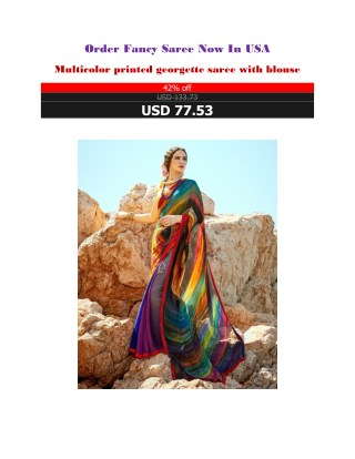 Order Fancy Saree Now In USA