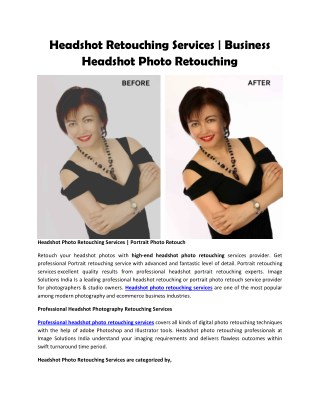 Headshot Retouching Services   Business Headshot Photo Retouching