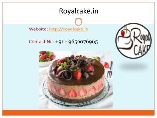 Online cake home delivery at midnight by royal cake