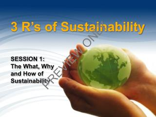 3 R's of Sustainability