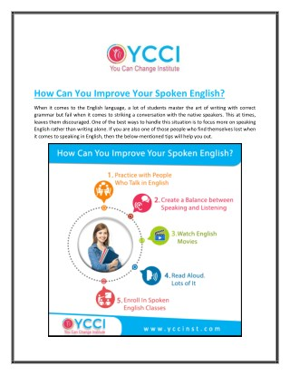 How Can You Improve Your Spoken English?