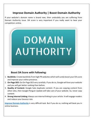 5 ways to improve domain authority
