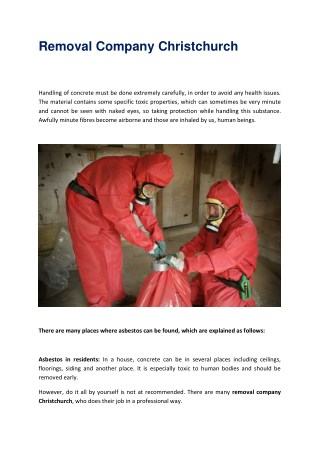 Asbestos Removal Christchurch- 0508 326 437