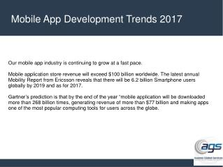 Mobile App Development Trends in 2017
