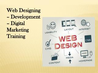 Web Designing – Development – Digital Marketing Training