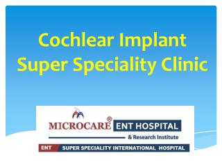 cochlear implant surgery in hyderabad | cochlear implant cost in hyderabad