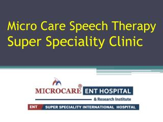 Speech Therapy Hospitals in Hyderabad | Speech Therapy in Hyderabad