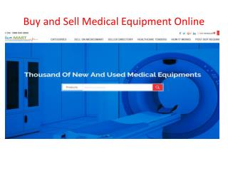 Buy and sell medical equipments online