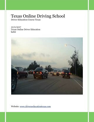 Texas drivers ed online