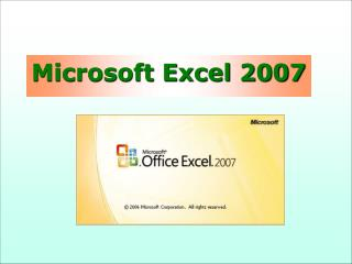 Excel - osnovni koraci